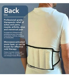 MKO Physio Moist Heat Pad Back Wrap