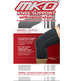 MKO Knee Support with Spiral Stays - Closed Patella