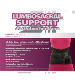 Lumbosacral Support