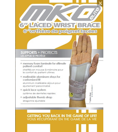 """MKO Elite Laced wrist brace 6"""" and 8"""" lengths available"""