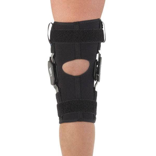 open popliteal knee brace